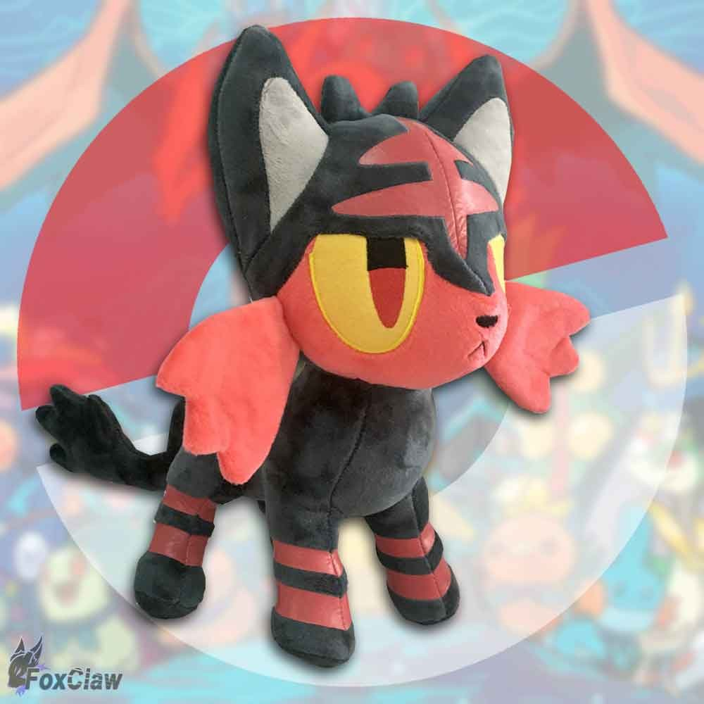PokéMon Litten Plush ~12 inch / ~30 cm