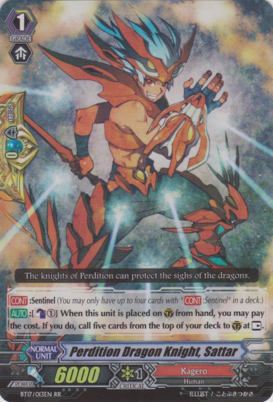 Perdition Dragon Knight, Sattar BT17/013EN RR