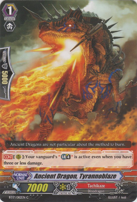 Ancient Dragon, Tyrannoblaze BT17/082EN C