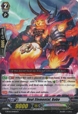 Heat Elemental, Bobo G-BT10/044EN R