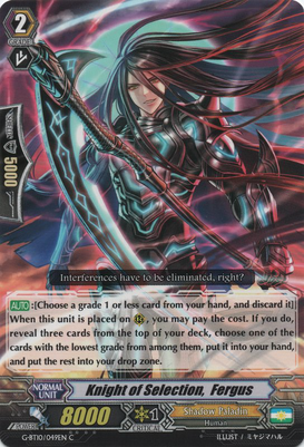 Knight of Selection, Fergus G-BT10/049EN C