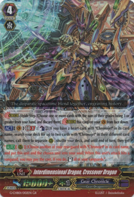Interdimensional Dragon, Crossover Dragon G-CHB01/002EN GR