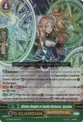 Divine Knight of Godly Defense, Igraine G-CHB01/011EN RR