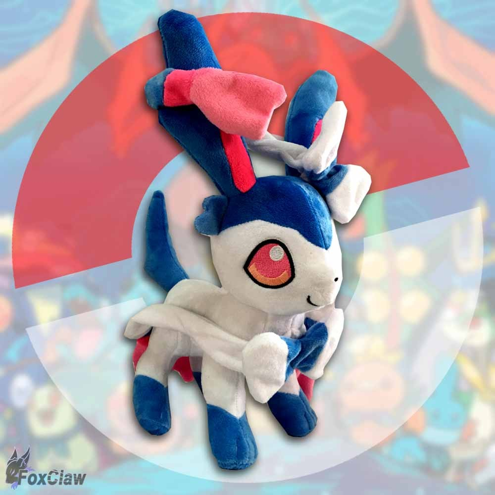 PokéMon Shiny Sylveon Plush ~12 inch / ~30 cm
