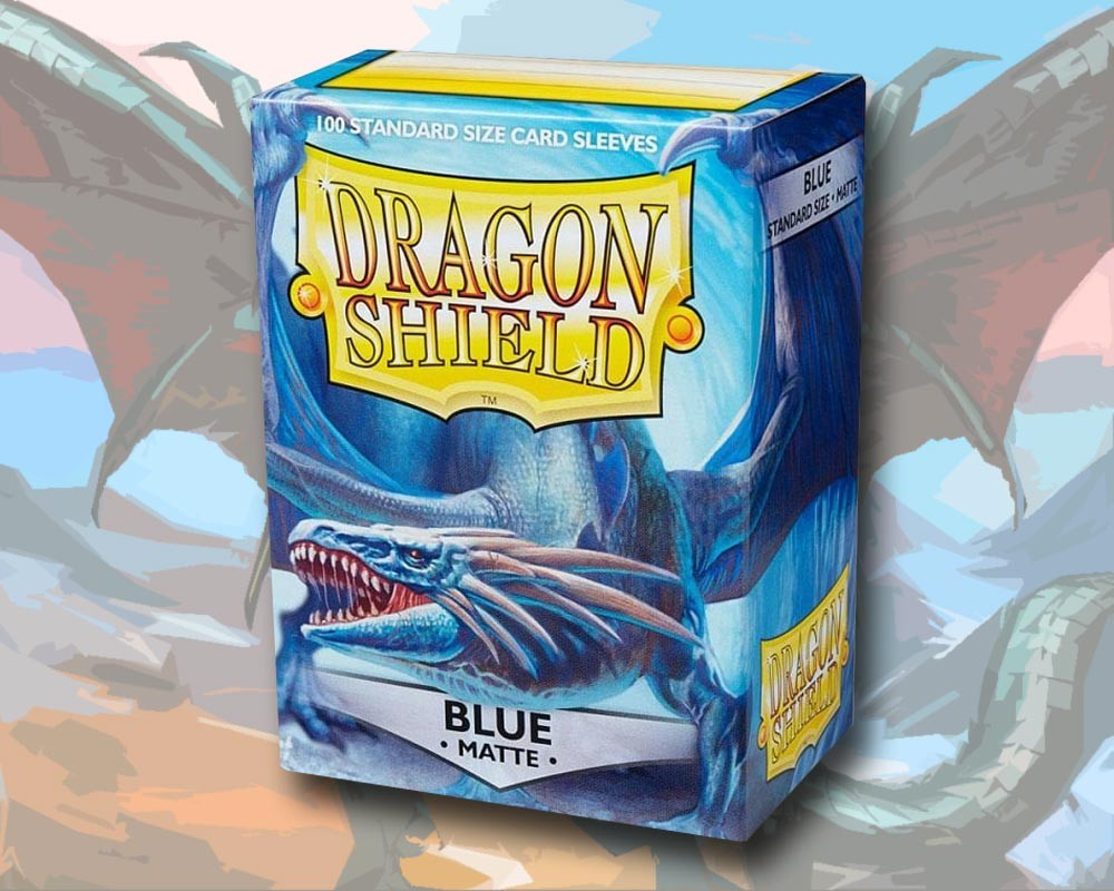 100 Dragon Shield Card Sleeves Standard Matte Blue