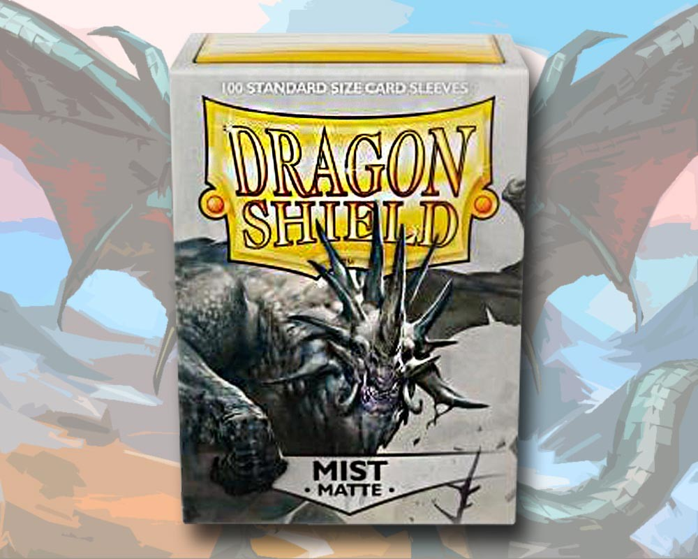 100 Dragon Shield Card Sleeves Standard Matte Mist