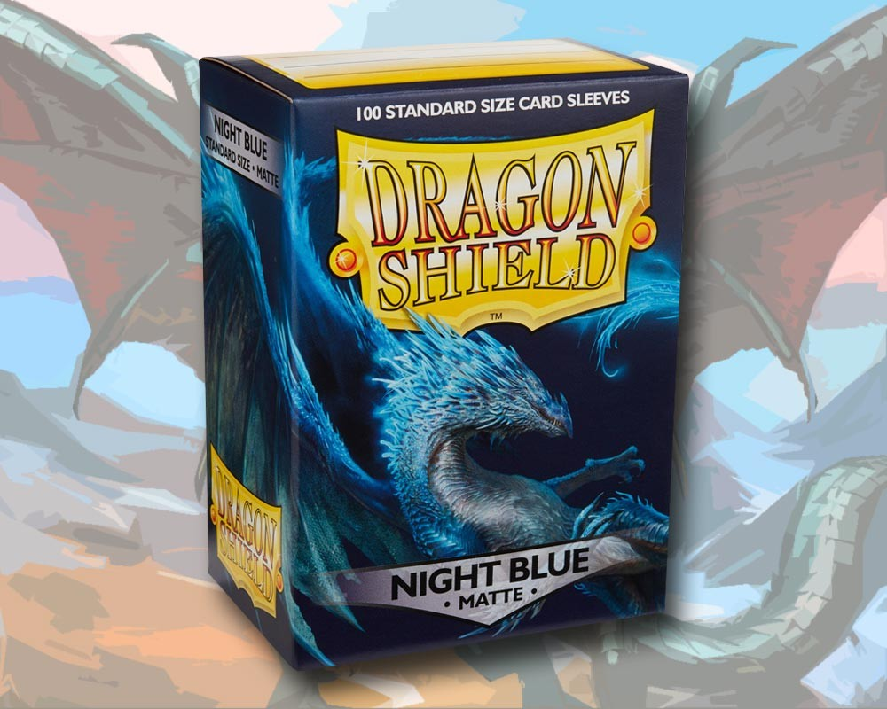 100 Dragon Shield Card Sleeves Standard Matte Night Blue