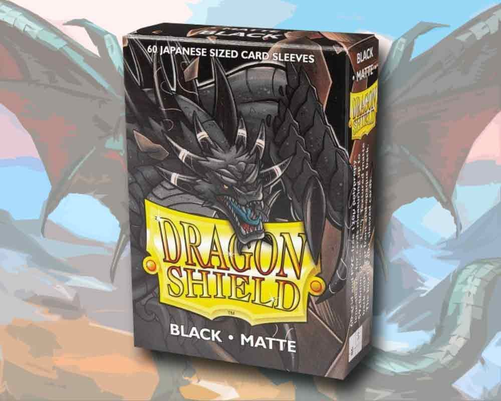 60 Dragon Shield Card Sleeves Mini Small Matte Black