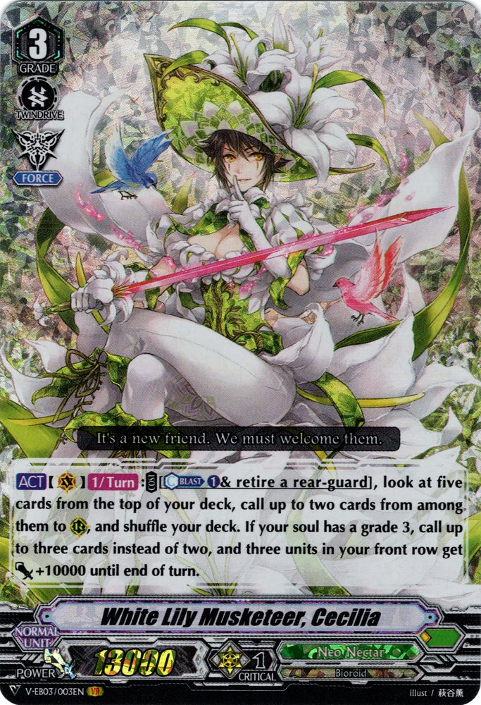 White Lily Musketeer, Cecilia V-EB03/003EN VR