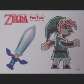 Wall Link + Sword FunTat Tattoo 1 OF 9