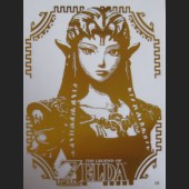 Gold Zelda #D4 Decal Sticker