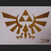 Gold Triforce #D7 Decal Sticker