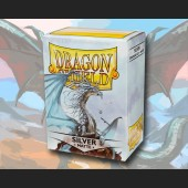 100 Dragon Shield Card Sleeves Standard Matte Silver