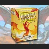 100 Dragon Shield Card Sleeves Standard Matte Yellow
