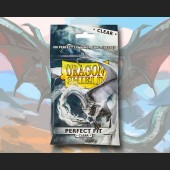 100 Dragon Shield Card Sleeves Standard Perfect Fit Clear
